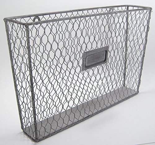 metal wall file holder. Amazon.com : Liza Metal Single File Folder Holder - Chicken Wire Off White Office Products Wall