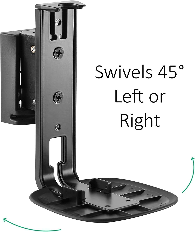 Rotate Speaker Mount for Best Audio Swivel Mount Plus SB54TX2 Adjustable Speaker Wall Mount for SONOS One One SL and Play:1 Low-Profile Black Adjustable Tilt Pair