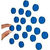 涂抹 2.54 厘米蓝色办公室磁铁(20 个装),彩色圆形冰箱磁铁,非常适合白板、储物柜和冰箱。