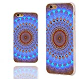 iPhone 6 Case, iphone 6 4.7 case,iphone6 case ,ChiChiC full Protective unique Stylish Case slim flexible durable Soft TPU Cases Cover for iPhone 6 4.7 inch,geometric blue brown mandala