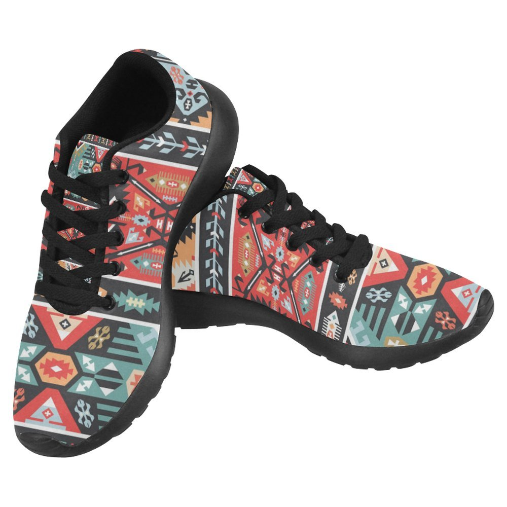 InterestPrint Women's Jogging Running Sneaker Lightweight Go Easy Walking Casual Comfort Sports Running Shoes Size 12 colorful Pattern In Tribal Style