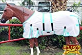HILASON 69' UV Protect MESH Bug Mosquito Horse Fly Sheet Summer Spring White