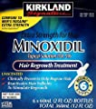 Kirkland Minoxidil 5% Extra Strength Hair Regrowth for Men, 6 Month Supply Body Care