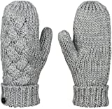 Roxy Snow Junior's Love AND Snow Lurex Thread Mittens, Mid Heather Grey, One Size