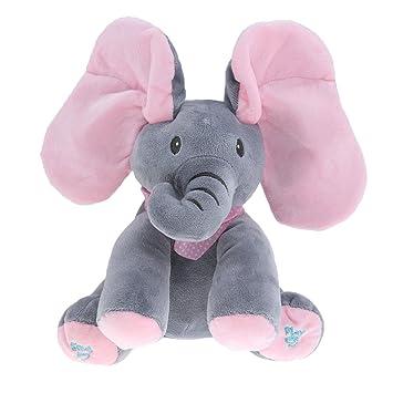 Sharplace Juguete con Orejas de Elefante Peluche Felpa Suave Creativo Vistoso Escondite Regalo Cómodo Hermoso Lindo