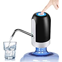 Water Dispensers Electric Portable USB Charging 5 Gallon Water Bottle Pump for Kitchen Home Office Camping (Black)