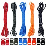 5 Colors 100 Feet Total Paracord Clothesline