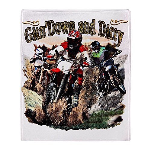 Stadium Throw Blanket Gitn' Down and Dirty Dirt Bikes, used for sale  Delivered anywhere in USA