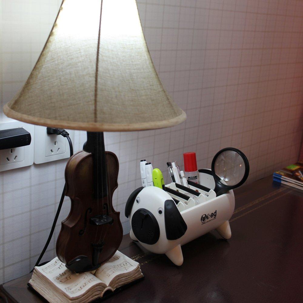 de pl/ástico Caja de almacenamiento multifunci/ón para escritorio para tel/éfono organizador de suministros de escritorio creativo y bonito para cachorros etc. mando a distancia perros