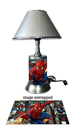 Spider-Man Lamp with chrome shade, the Amazing Spider-Man ...