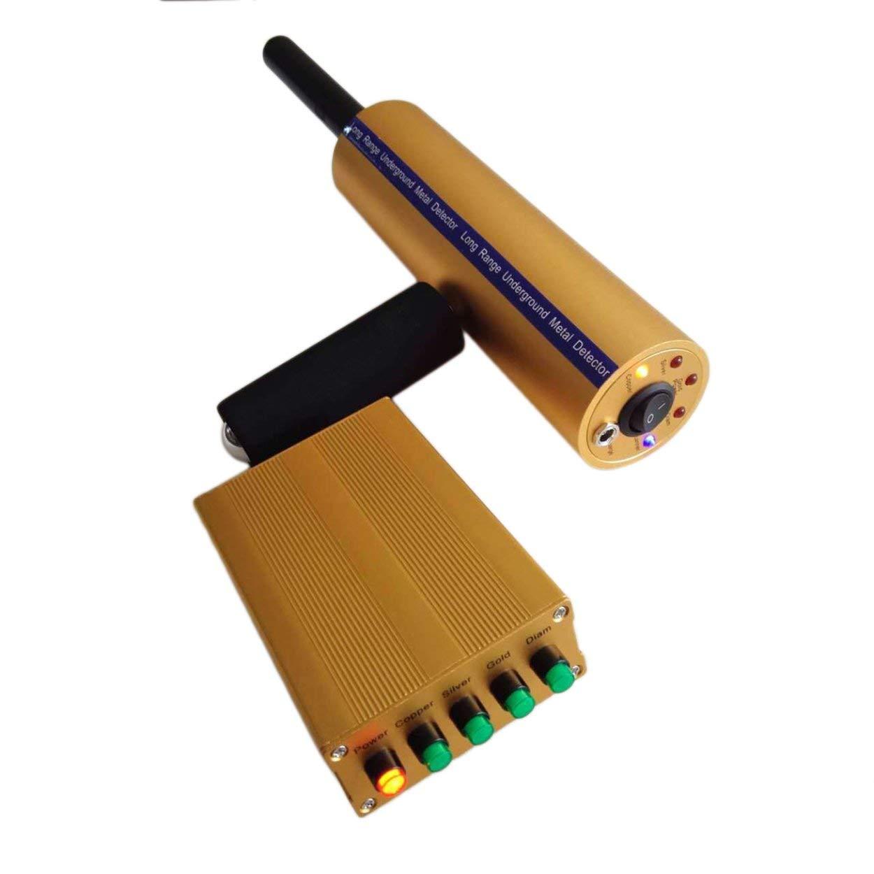 Detector de Metales Profesional con Pantalla LCD de Mano, Herramienta de búsqueda Profunda Sensible y Plegable para Cazador de luz Dorada: Amazon.es: Jardín