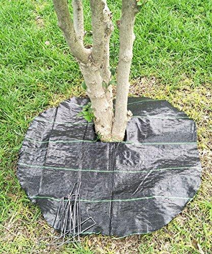 (Agfabric Easy-Plant Weed Block Mulch,Tree Mat,Weed Barrier Mat,Woven Round Weed Barrier Fabric,Garden Mat,3.0oz,Dia-29 (20 Pack,Black))