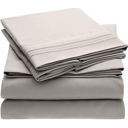 Mellanni Bed Sheet Set - HIGHEST QUALITY Brushed Microfiber 1800 Bedding -  Wrinkle 5a00d8501