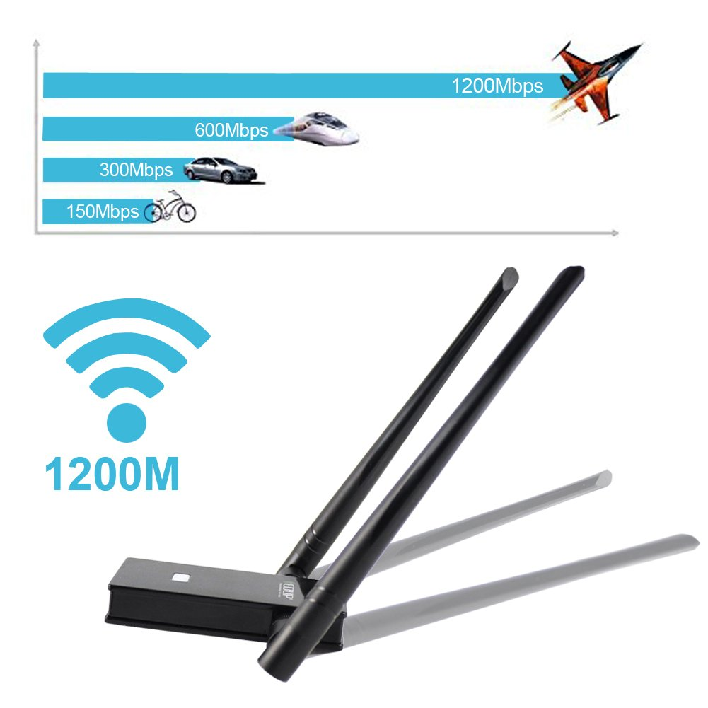 EDUP WiFi Adapter AC1200Mbps 802 11ac Long Range Wireless