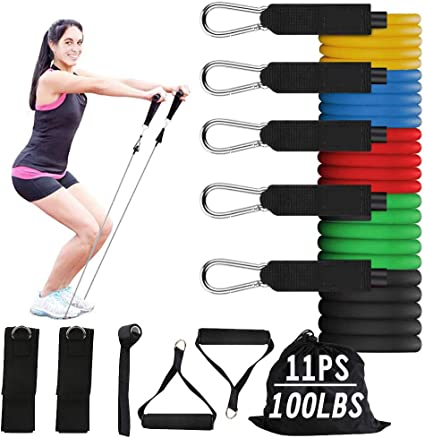 Fitness Pull Tubes Strength Training Workout Exercise Yoga  Resistance Bands