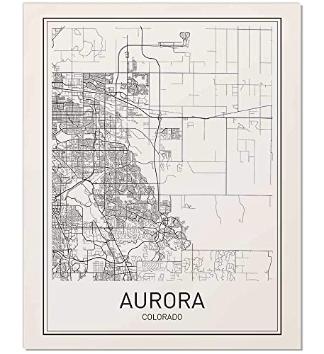 Amazon.com: Aurora Poster, Map of Aurora, Aurora Map, City Map ...