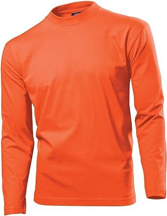 Hanes - Camiseta Básica de cuello de redondo de manga larga para hombre - 100% Algodón de primera calidad