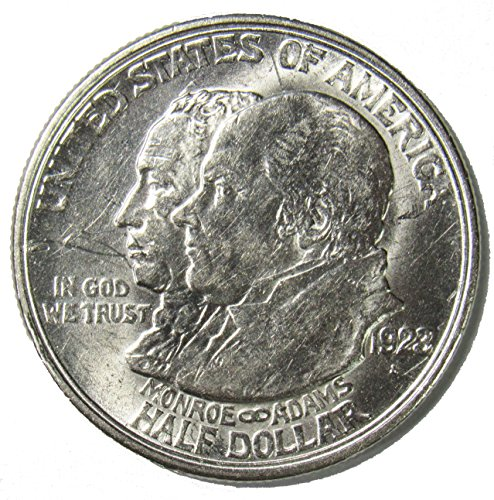 1923 S Monroe-Adams Doctrine Centennial Silver Commemorative Half Dollar 50¢ About Uncirculated