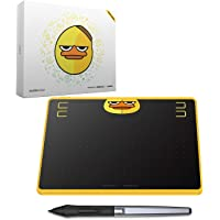 Huion HS64 Graphics Drawing Tablet Android Devices Supported 8192 Pen Pressure with Battery-Free Stylus(Chips Special…