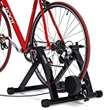KUOKEL Bike Trainer Stand – Steel Bicycle Exercise Magnetic Stand with Noise Reduction Wheel for Indoor Riding,Inddor Exercise Road Machine Smart Trainer (Bike Trainer Stand)