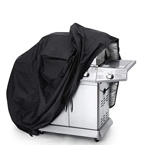 """BBQ Gas Grill Cover 57/"""" Barbecue Waterproof Outdoor Heavy Duty Protection Black"""