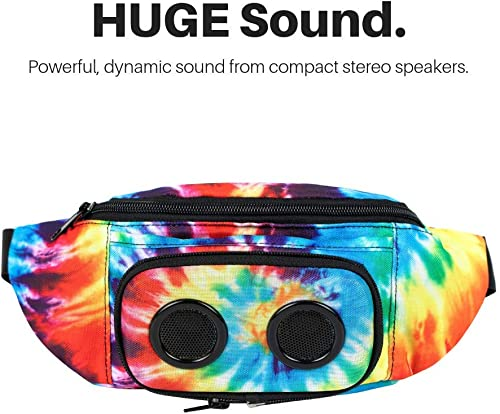 The 1 Fannypack with Speakers. Bluetooth Fanny Pack for Parties Festivals Raves Beach Boats. Rechargeable, Works with iPhone Android. 1 Bachelorette Party Gift Tie Dye, 2019 Edition