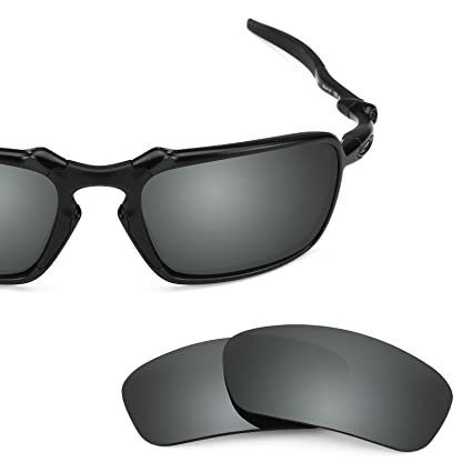 b231220f52c11 Revant Polarized Replacement Lenses for Oakley Badman Elite Black Chrome  MirrorShield