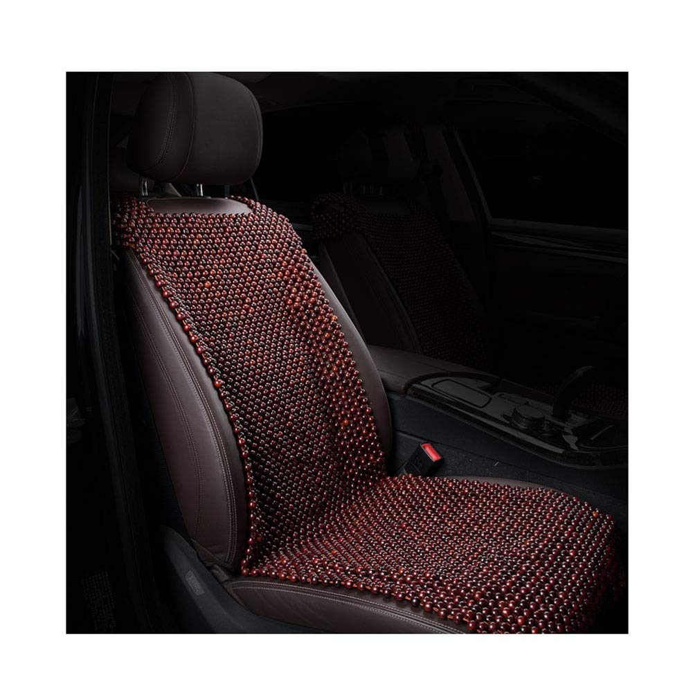 LIXIONG-Car Seat Cushion Hand Made Wooden Beads Cool Pad Grinding Process Smooth Surface Easy to Clean, 2 Styles (Color : A)