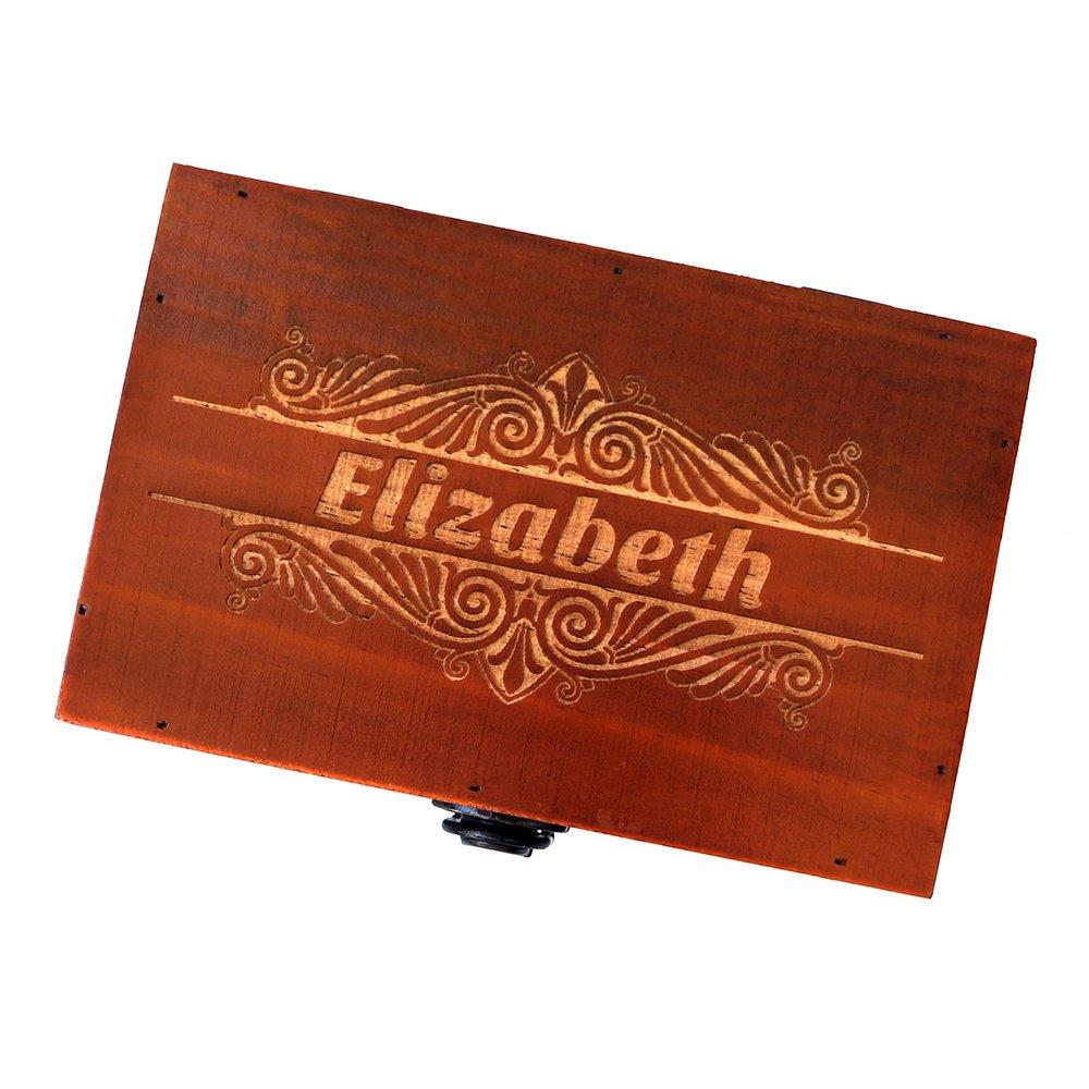 Awerise Personalized Wooden Keepsake Box W Lock Key Custom Jewelry Box Bridesmaid Box Mother Gift