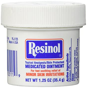 Resinol Medicated Ointment 1.25 oz (Pack of 4) 3 Pack - Dermabrush Grapefruit Body Scrub 6.7 oz
