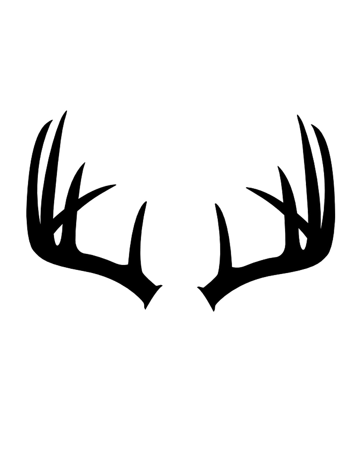 Pack of 3 Antlers Stencils Made from 4 Ply Mat Board 16x20, 11x14, 8x10 Woodburns Stencil Shop