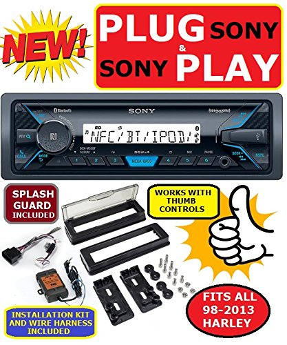 CARTRONICS-SONY Plug -And -Play for/fits Harley Touring 1998-2013 Sony  Marine Radio Stereo Pre Installed and Programmed
