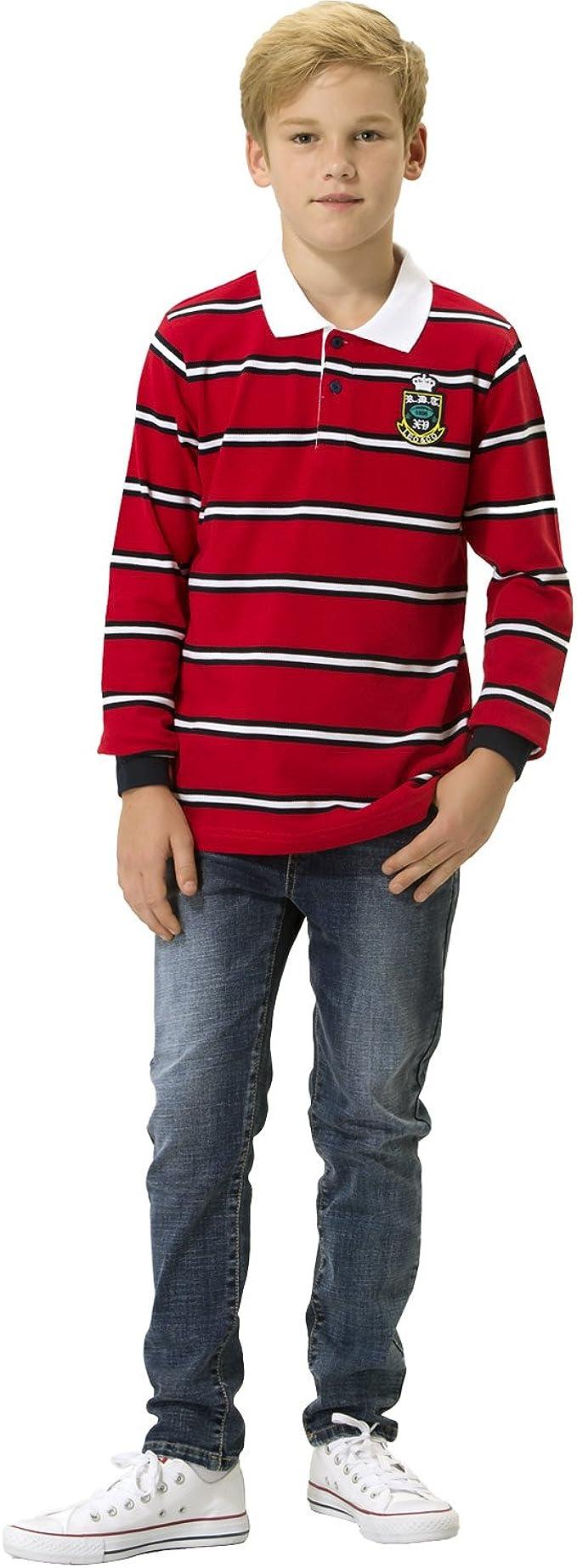 LEO/&LILY Boys Kids Elastic Waist Husky Stretch Denim Jeans Dark LLB6A02