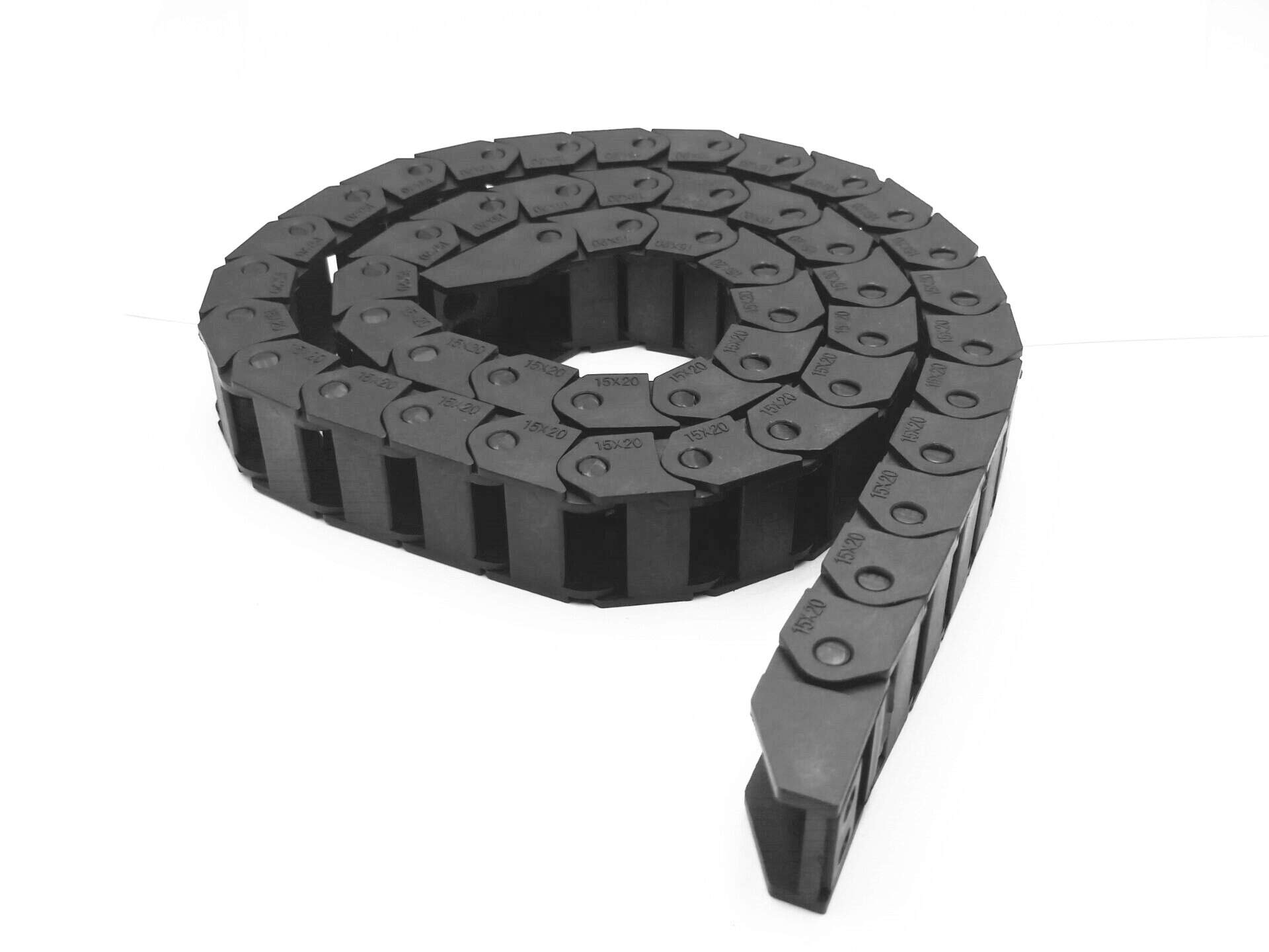 XYY 1m 10pcs Black Plastic Drag Chain Cable Carrier for CNC Router Mill 15mm x 20mm by XINYIYUAN