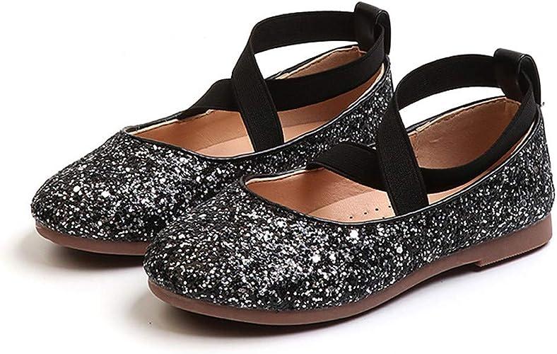 Fall Kids Girl Party Dance Shoes Children Princess Flats Sequin Single Baby Shoe
