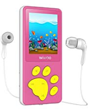 Mini Lecteur MP3 Enfant, Jeux, Minuterie de Sommeil, Enregistreur Vocal, Lecteur MP4 Avec Radio écran ACL de 1,8 po, Baladeur MP3 MP4 Paw Button de Cartoon Bear pour Enfants en Cadeau de Fête