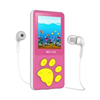 """MP3 Player, Cartoon MP3 Music Player for Kids Bear Paw Button Design, 1.8"""" LCD Screen, MP3 Player with Radio, Kids Games, Sleep Timer, Voice Recorder (Pink)"""