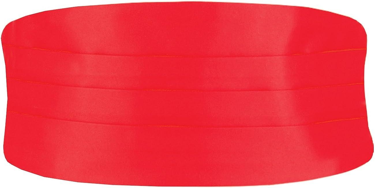 Dobell Boys Red Cummerbund Adjustable Waist Tuxedo Wedding Accessory