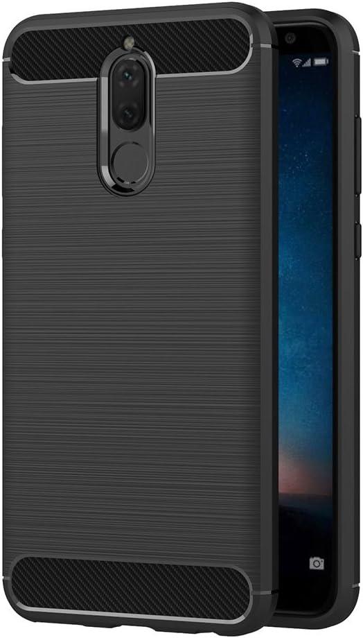 Funda Huawei Mate 10 Lite, AICEK Negro Funda Huawei Mate 10 Lite Funda suave de silicona Negro para Mate 10 Lite Funda TPU Suave (5.9 pulgadas)