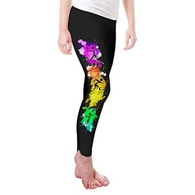 Twisted Envy Paint Splatter Volleyball Women's Funny Leggings