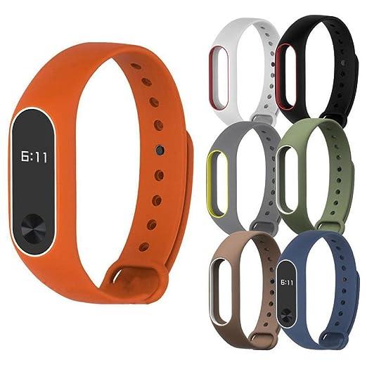 Pulseras Xiaomi Miband 2 Original,Reemplazo Correa de reloj pulsera de silicio para Xiaomi Mi Band 2 Brazalete Barato por VENMO (F): Amazon.es: Relojes