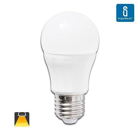 Aigostar Bombilla LED P45 de 7W, rosca grande y luz cálida E27