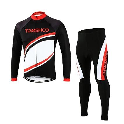 TOMSHOO Spring Autumn Men Cycling Clothing Set Sportswear Road Mountain  Bicycle Bike Outdoor Full Zip Long 39dba23d5