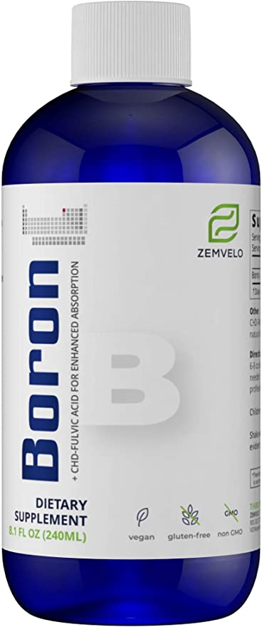 Mineralife Liquid Ionic Boron - Natural Solution for Pain & Inflammation and Enhance Calcium Absorption {8oz., 96 Day Supply}
