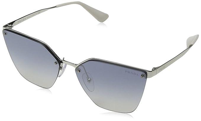 Prada Damen Sonnenbrille 0PR68TS 1BC2F2, Silber (Silver/Grey Silverpolar), 63