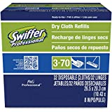 Swiffer 33407 Regular Sweeper Implement Disposable Dry Cloth Refills (Case of 6 Boxes, 32 Refills per Box)