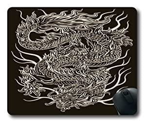 custom and diy chinese dragon 220*180*3mm square mouse pads for office by wenshopping