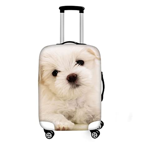 aafd31728 Amazon.com | Coloranimal Elastic Luggage Protective Cover Funny Dog Printed  Suitcase Covers for 18-22 Inch Cases | Suitcases