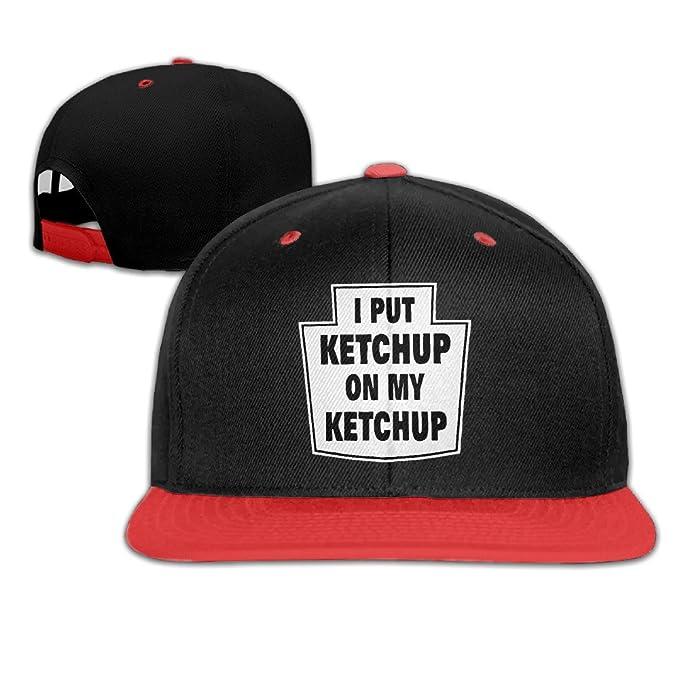 Kids I Put Ketchup On My Ketchup Hip Hop Baseball Hat Child Cap ... d4d96a54b4f2