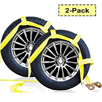 Amazon.com: MotorbyMotor 2 correas de neumático para ...
